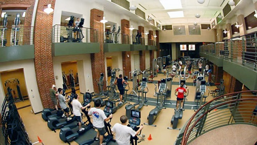 Fike Fitness Center: all the exercise machines were full when I was there