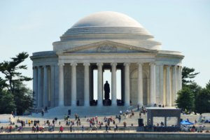 "The Jefferson Memorial----temple to words of liberty and great (ironic) example of ""aura"""